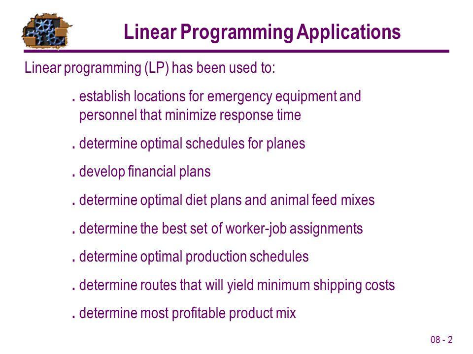 Linear Programming Applications