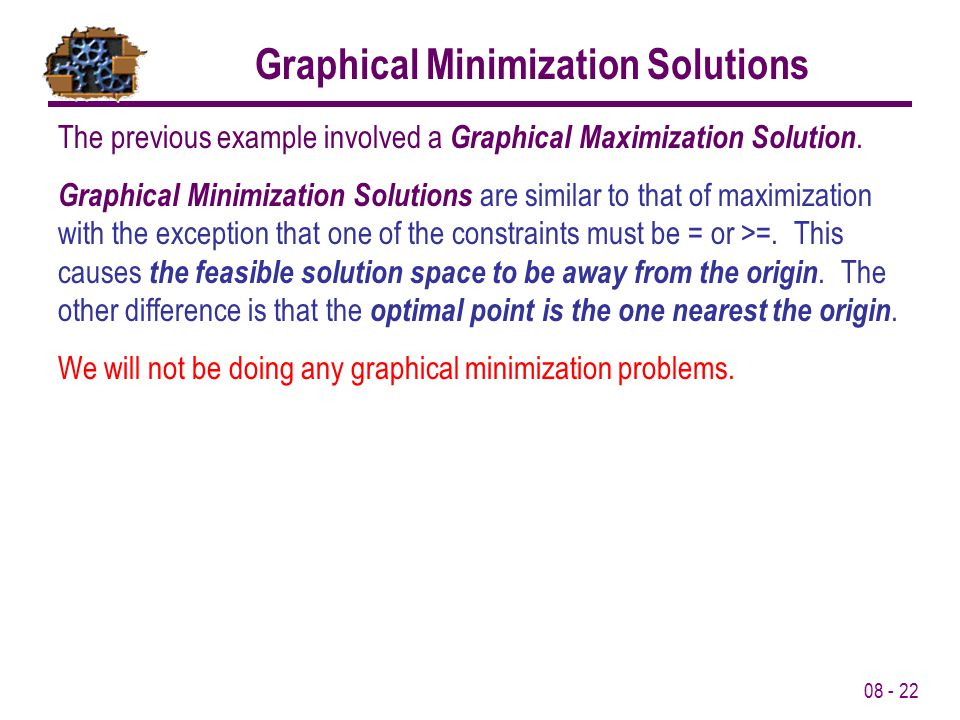 Graphical Minimization Solutions