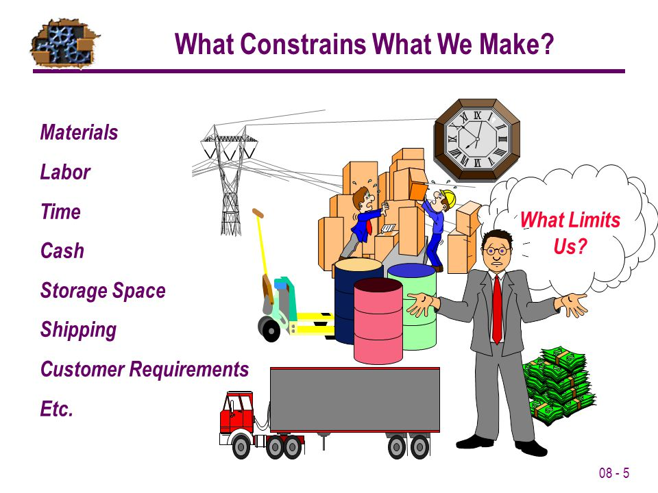 What Constrains What We Make