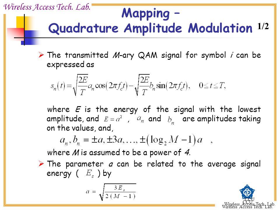 Mapping – Quadrature Amplitude Modulation