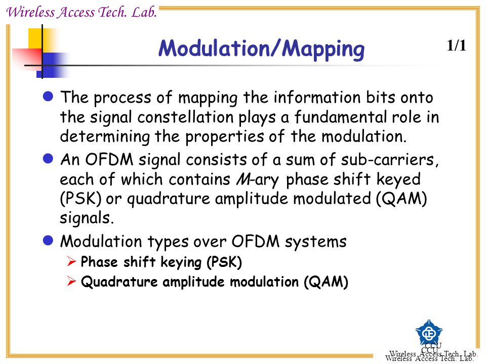 Modulation/Mapping 1/1.