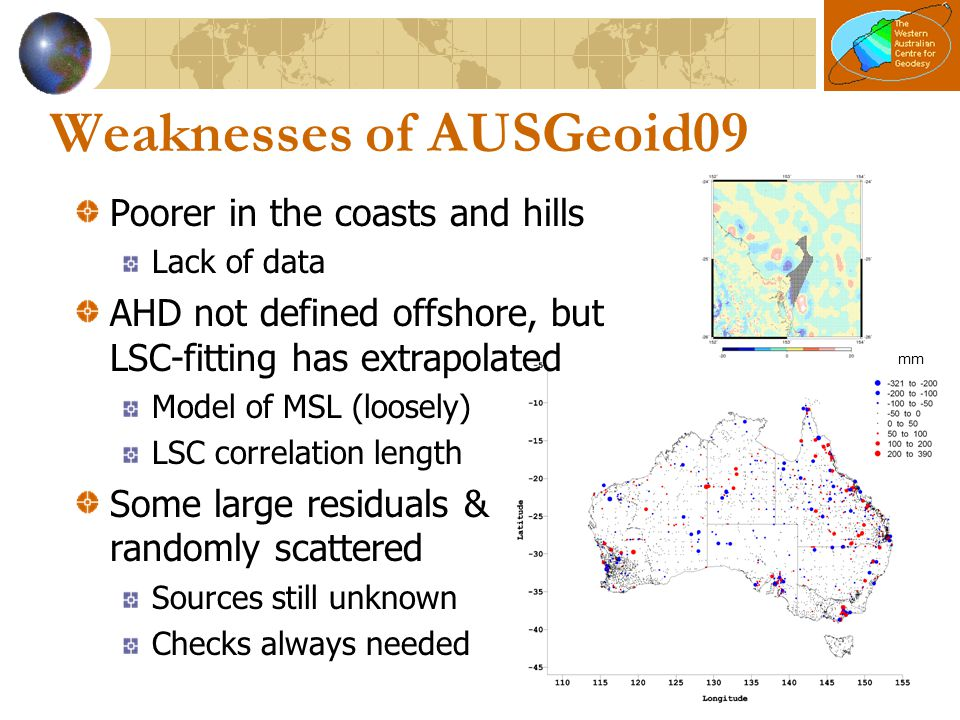 Weaknesses of AUSGeoid09
