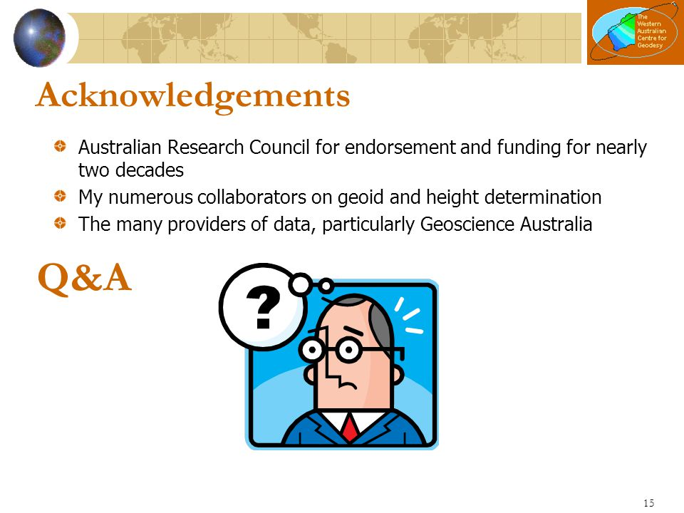 Acknowledgements Australian Research Council for endorsement and funding for nearly two decades.