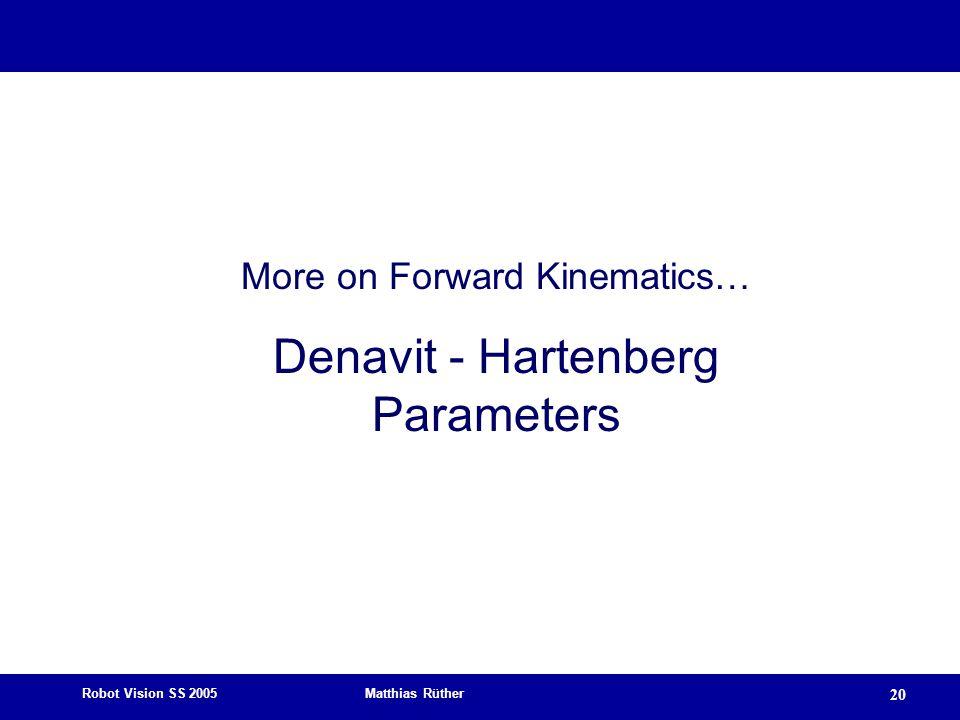 Denavit - Hartenberg Parameters