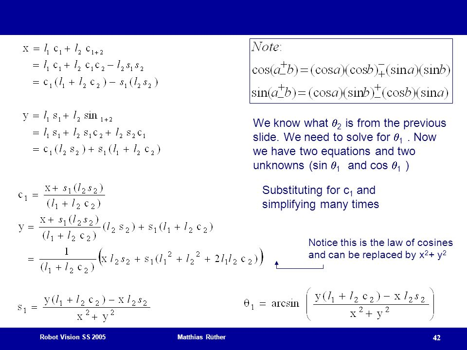 Substituting for c1 and simplifying many times