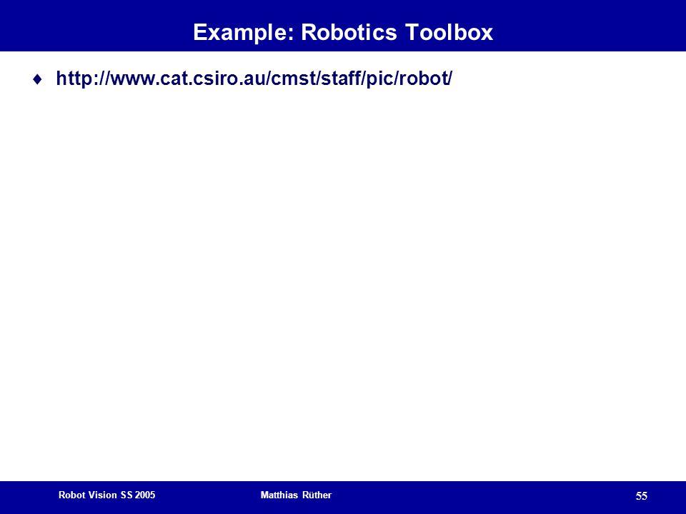 Example: Robotics Toolbox