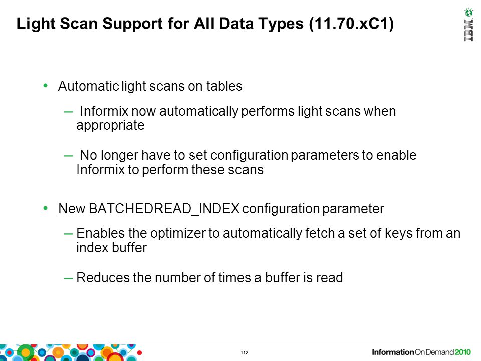 Light Scan Support for All Data Types (11.70.xC1)