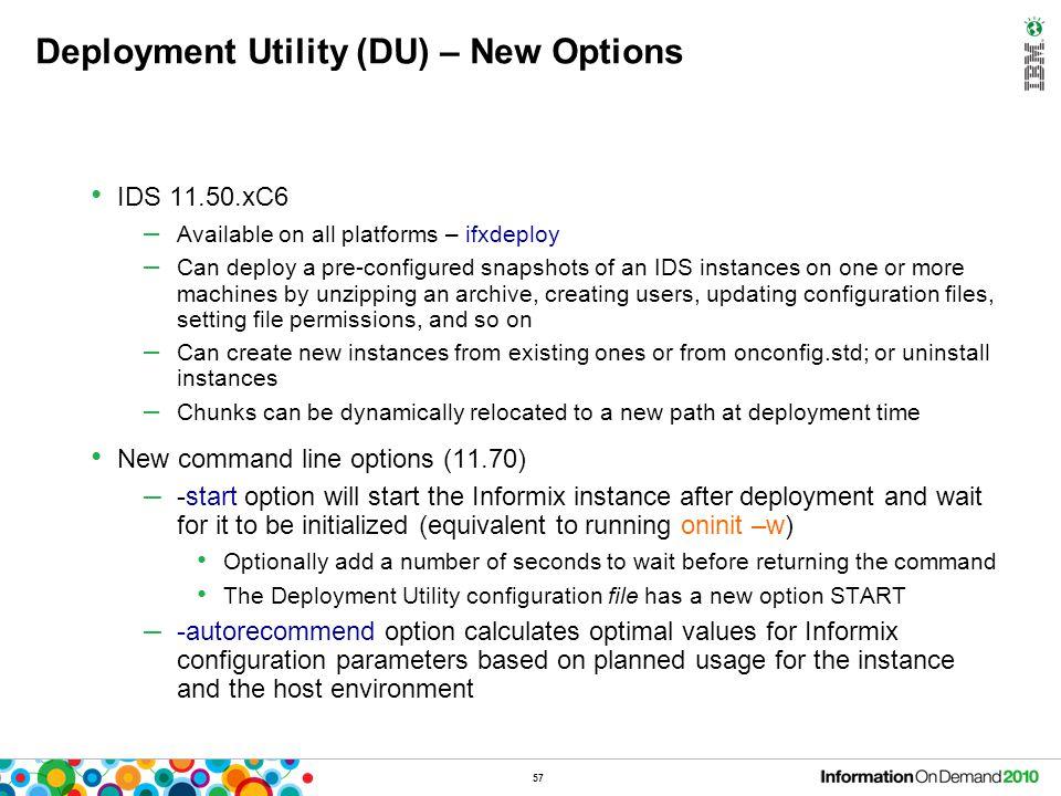 Deployment Utility (DU) – Example
