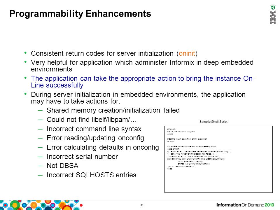 Embeddabillity – Other Features
