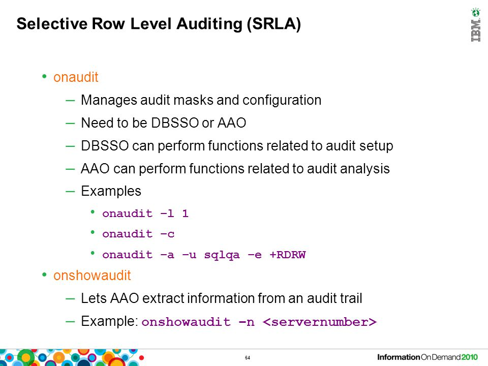 Selective Row Level Auditing (SRLA) – What's New