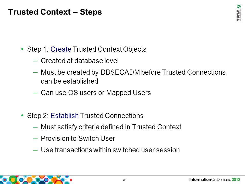 Trusted Context – Steps