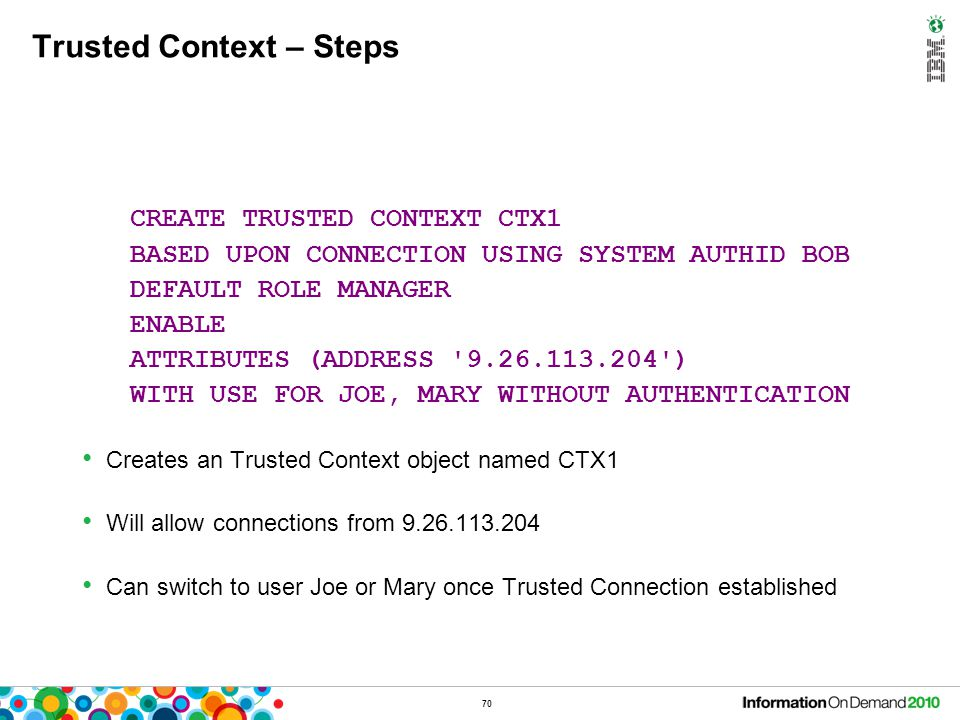 Trusted Context – Switching Users