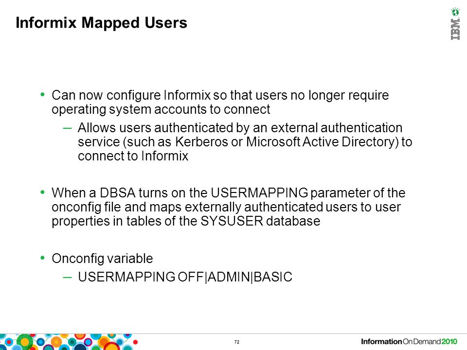 Informix Mapped Users – Example
