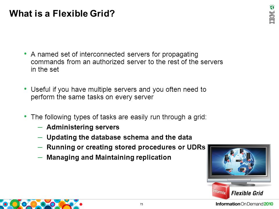 What are the features of the new Informix Flexible Grid