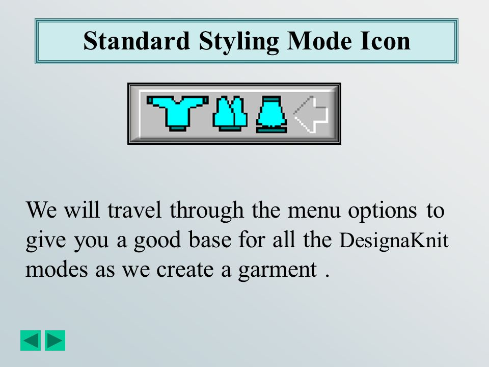Standard Styling Mode Icon