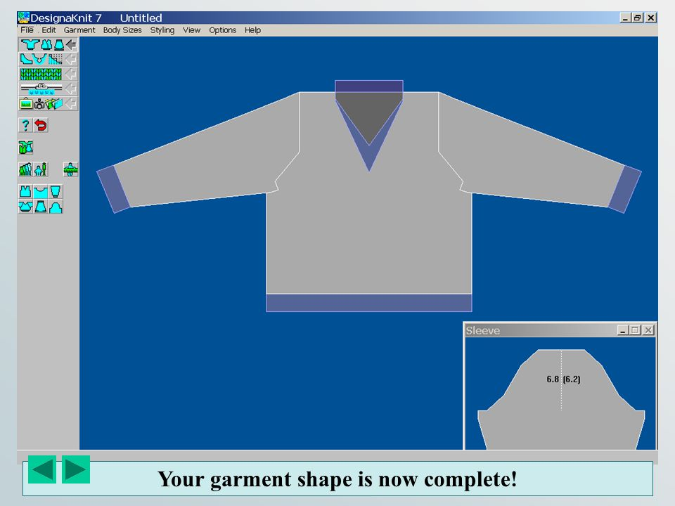 Your garment shape is now complete!