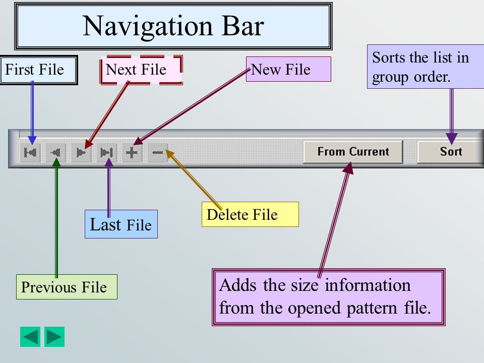 Navigation Bar Last File