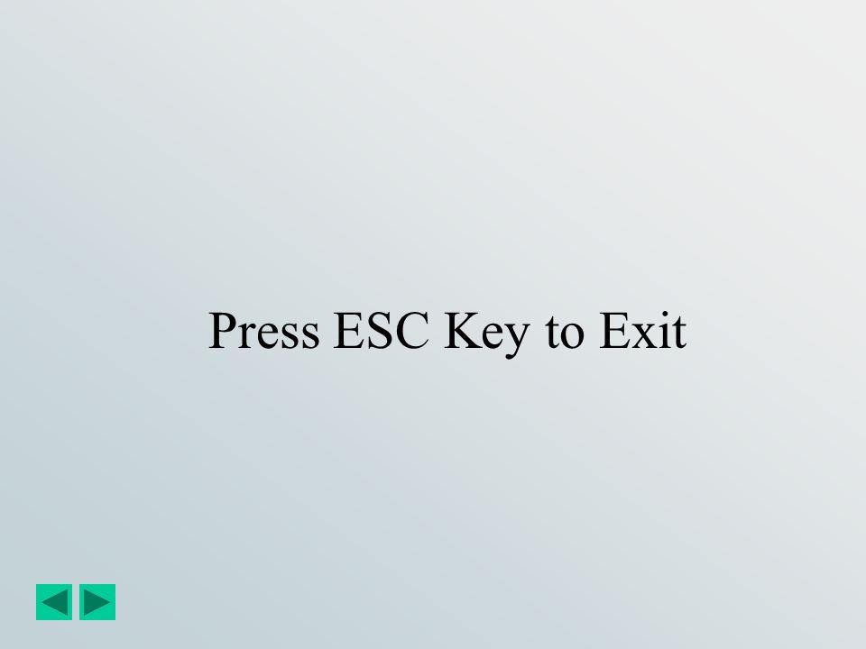 Press ESC Key to Exit