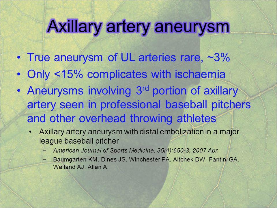 Axillary artery aneurysm