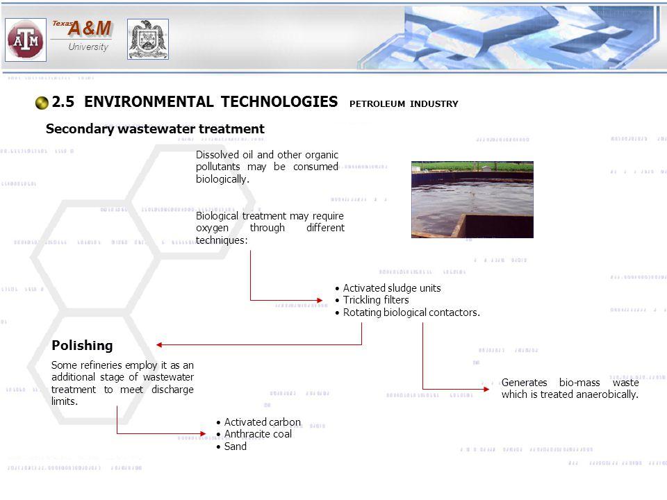 2.5 ENVIRONMENTAL TECHNOLOGIES PETROLEUM INDUSTRY