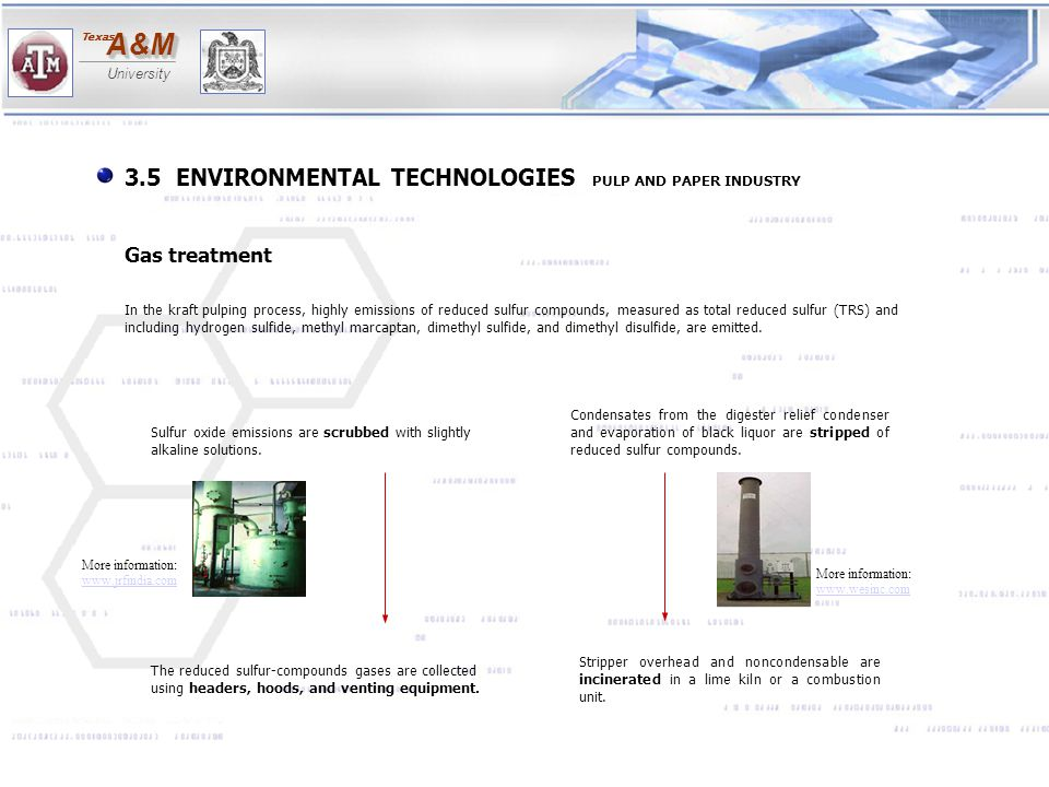 3.5 ENVIRONMENTAL TECHNOLOGIES PULP AND PAPER INDUSTRY
