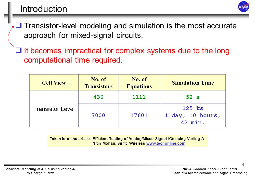 Introduction This situation has led circuit designers to consider alternate modeling techniques: