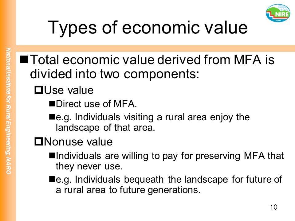 Types of economic value