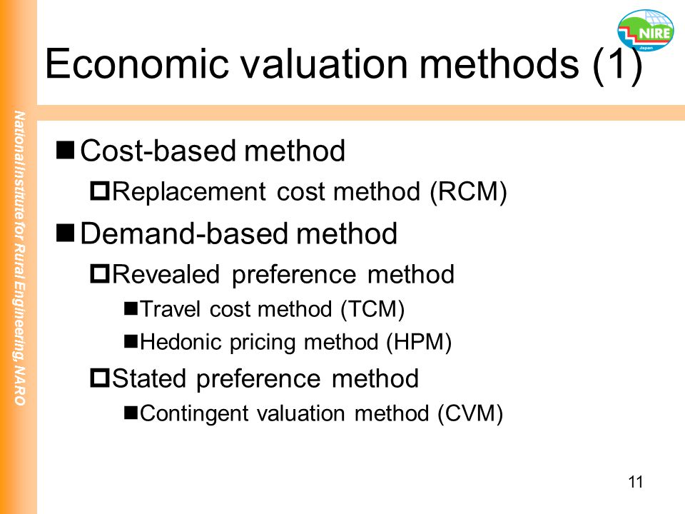 Economic valuation methods (1)