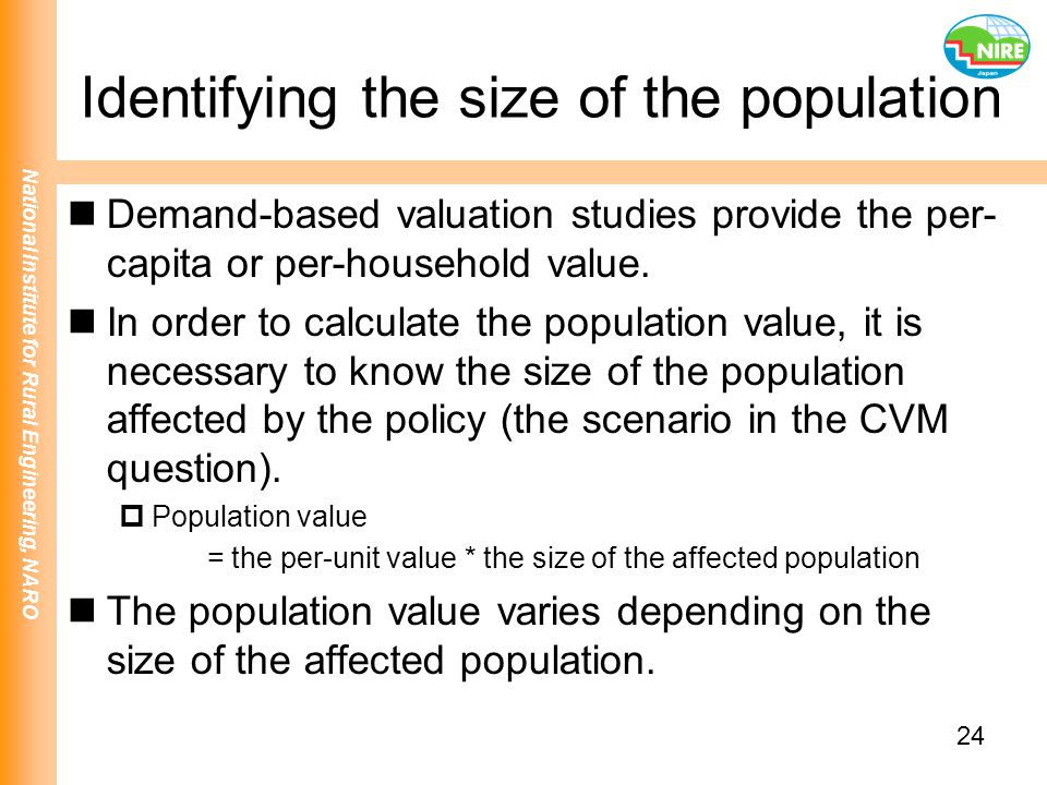 Identifying the size of the population