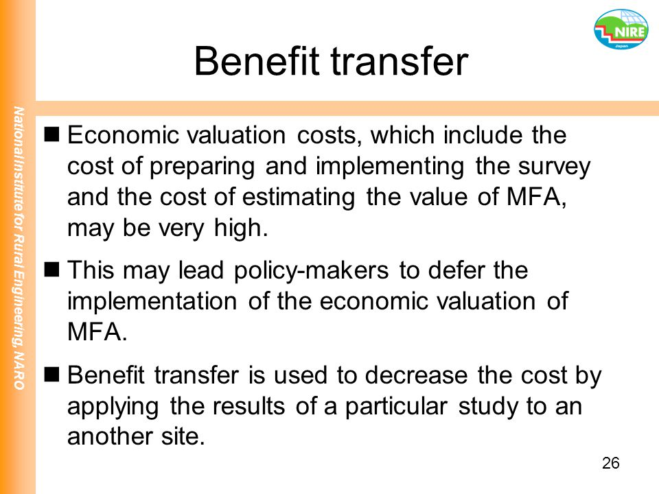 Benefit transfer