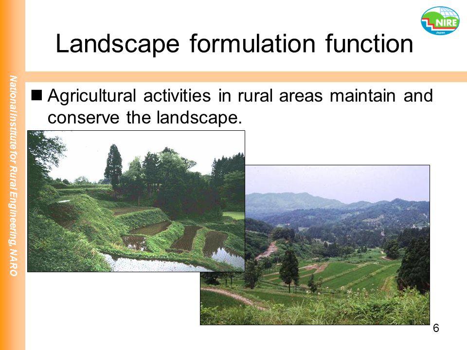 Landscape formulation function