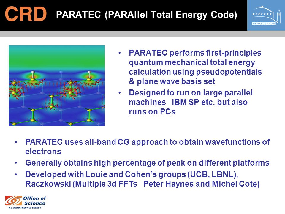 PARATEC (PARAllel Total Energy Code)