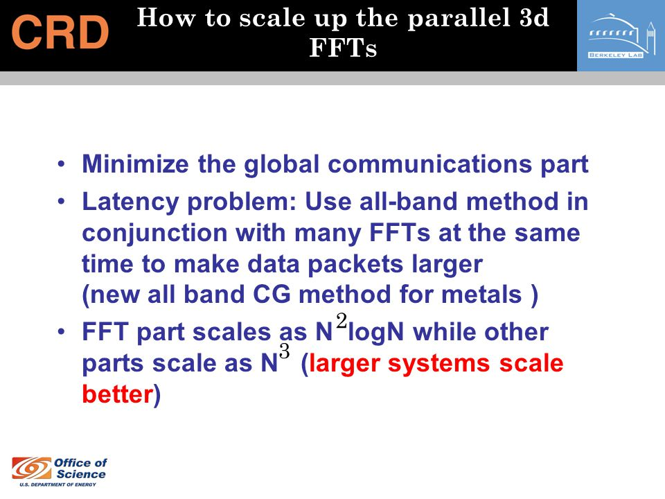 How to scale up the parallel 3d FFTs