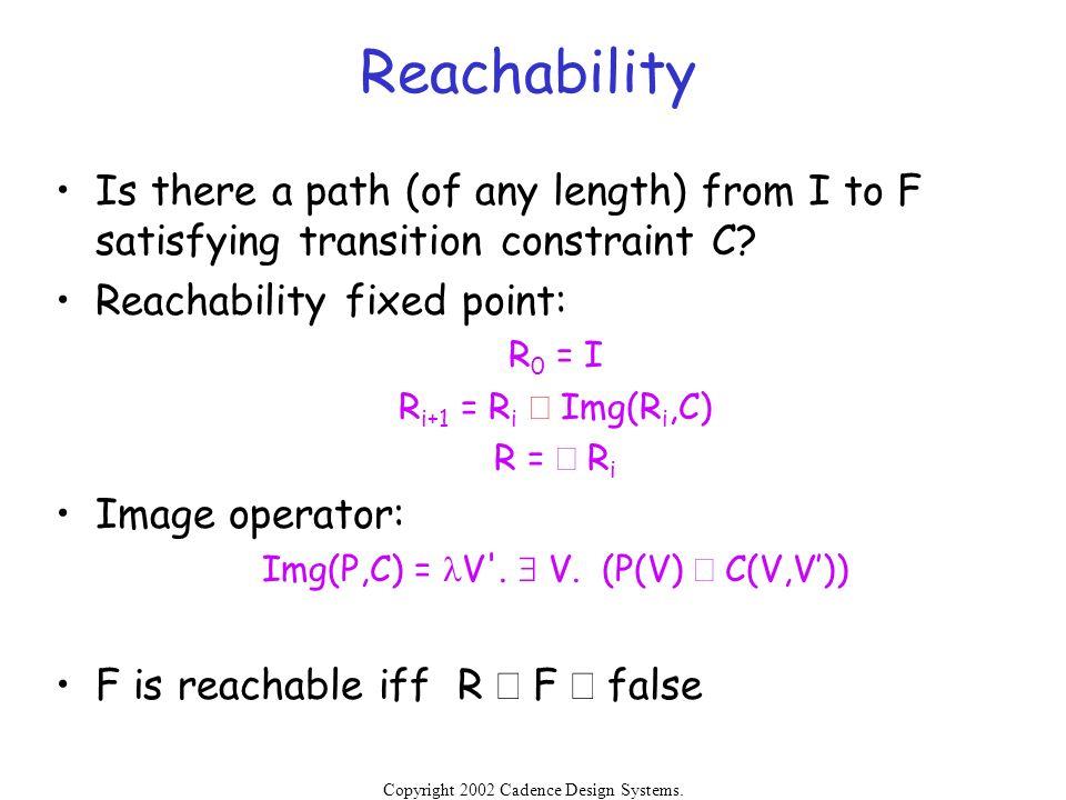 Img(P,C) = lV . $ V. (P(V) Ù C(V,V'))