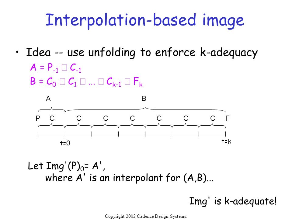 Interpolation-based image