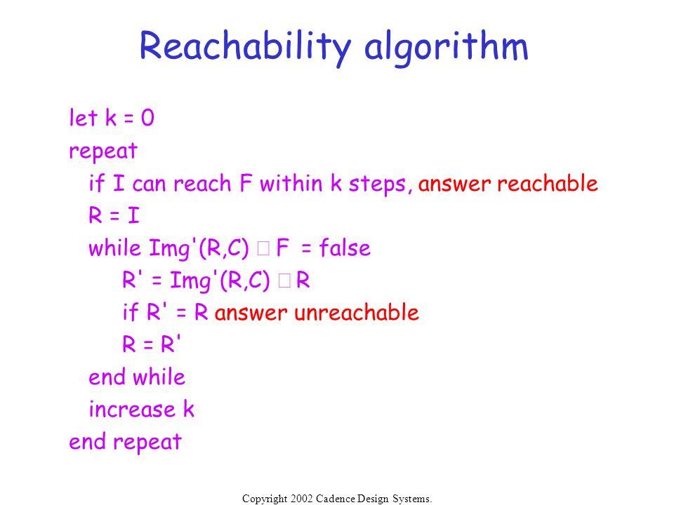 Reachability algorithm