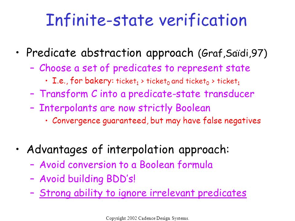 Infinite-state verification