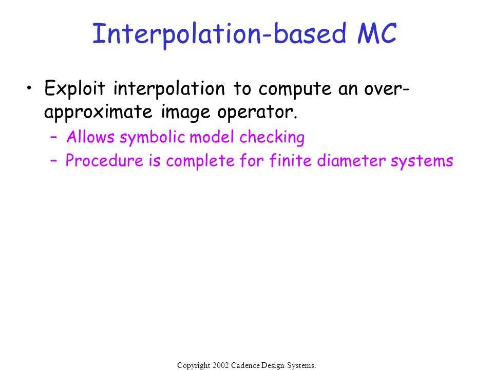 Interpolation-based MC