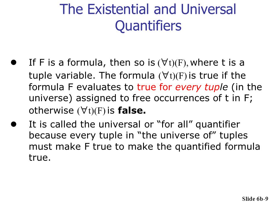 The Existential and Universal Quantifiers