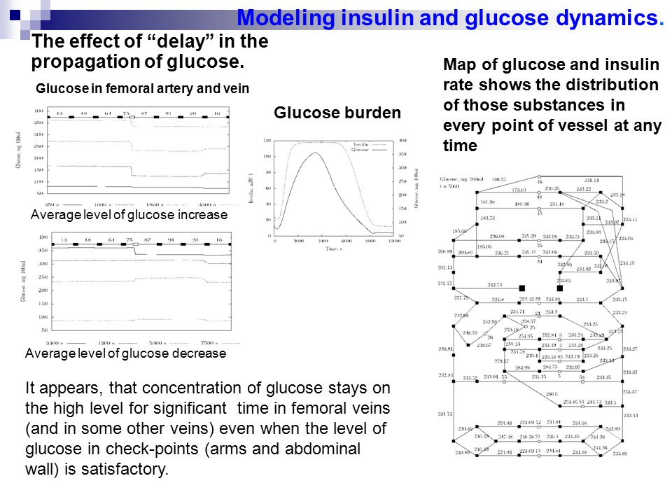 The effect of delay in the propagation of glucose.