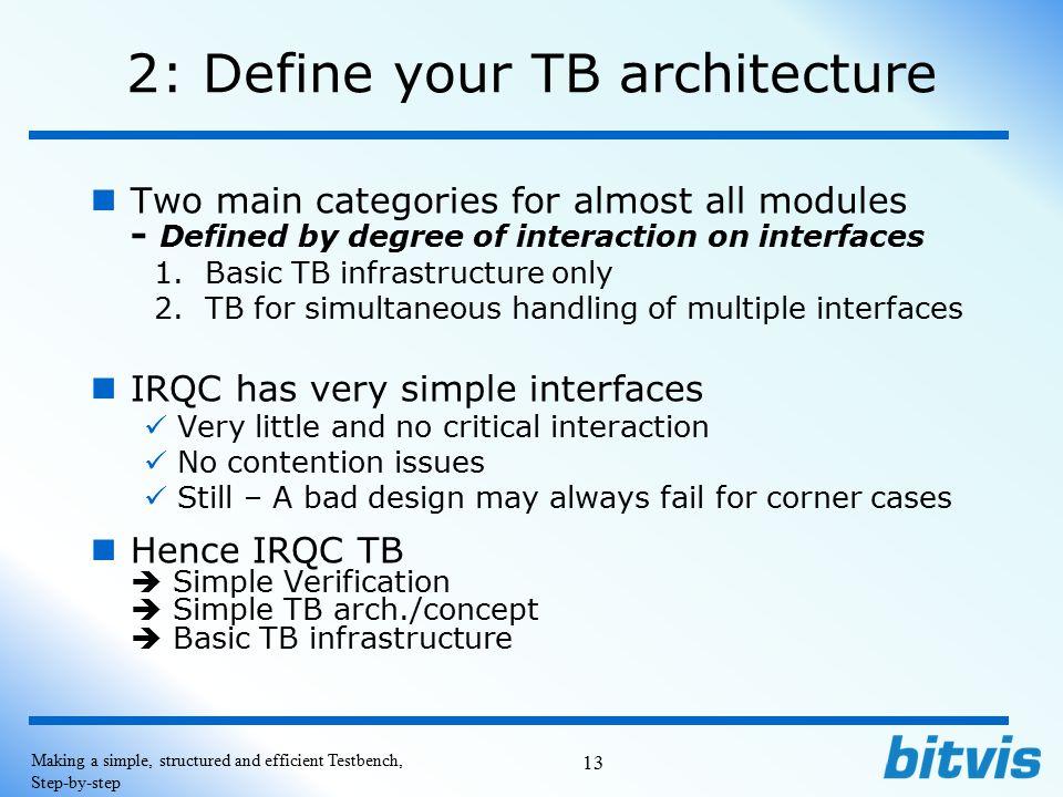 2: Define your TB architecture