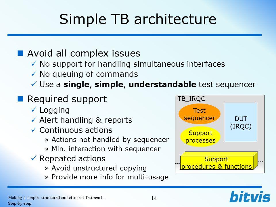 Simple TB architecture