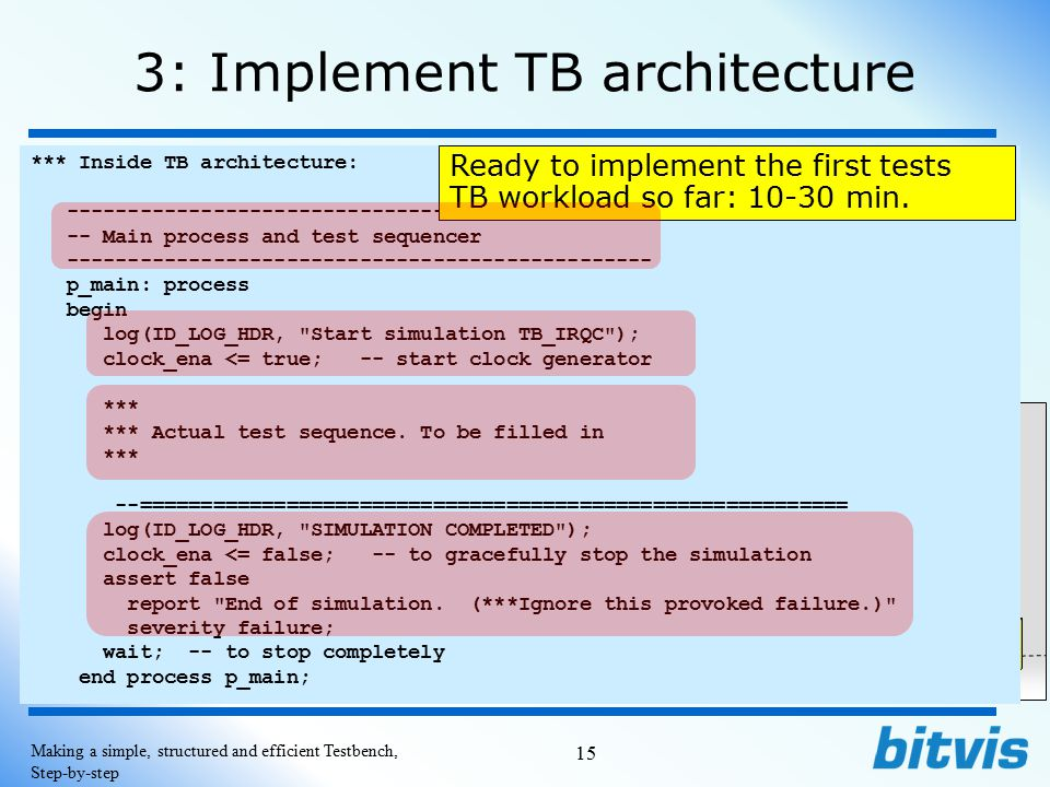 3: Implement TB architecture