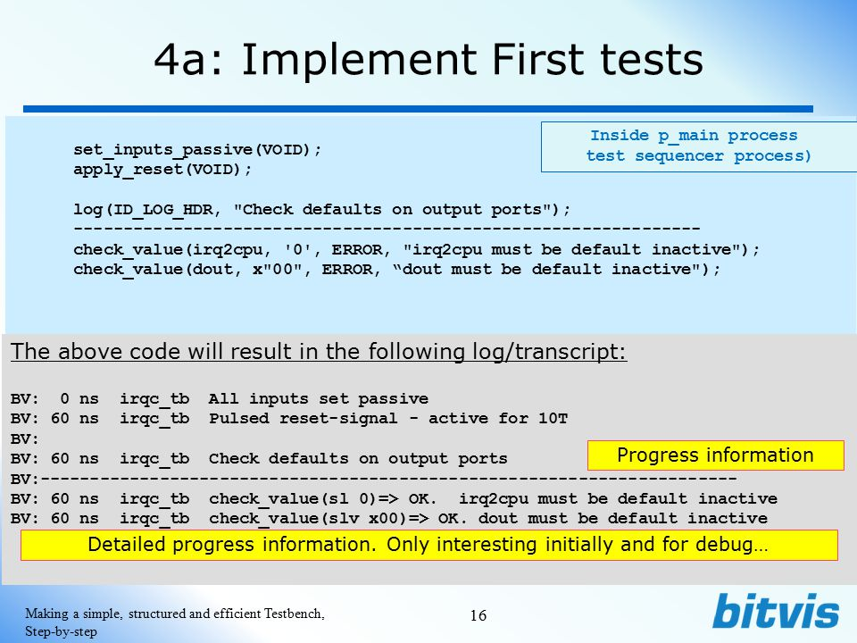 4a: Implement First tests