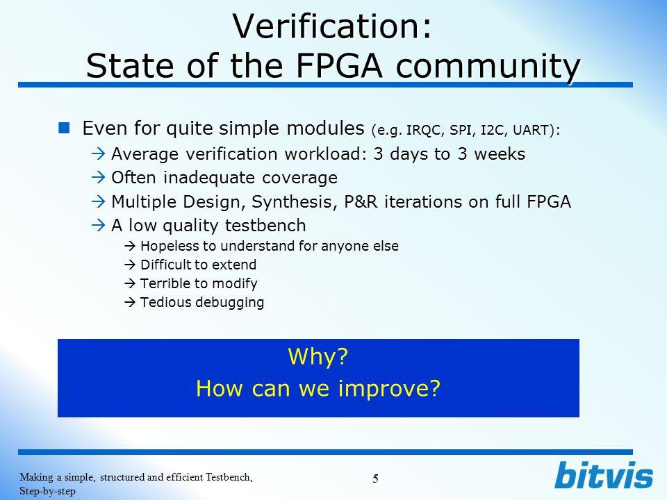Verification: State of the FPGA community