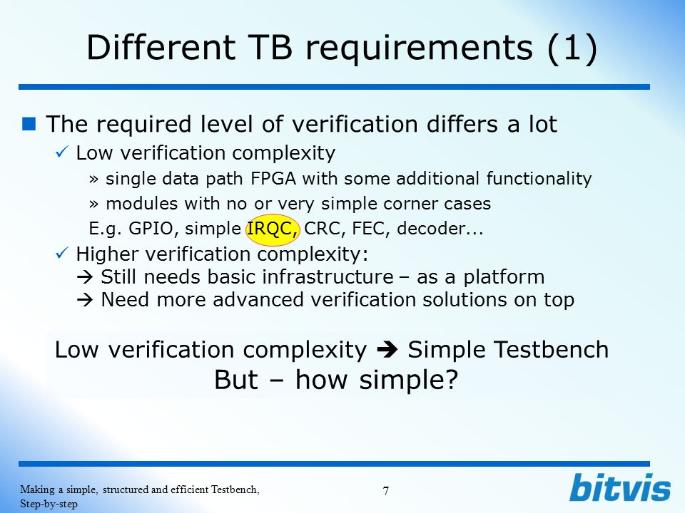 Different TB requirements (1)
