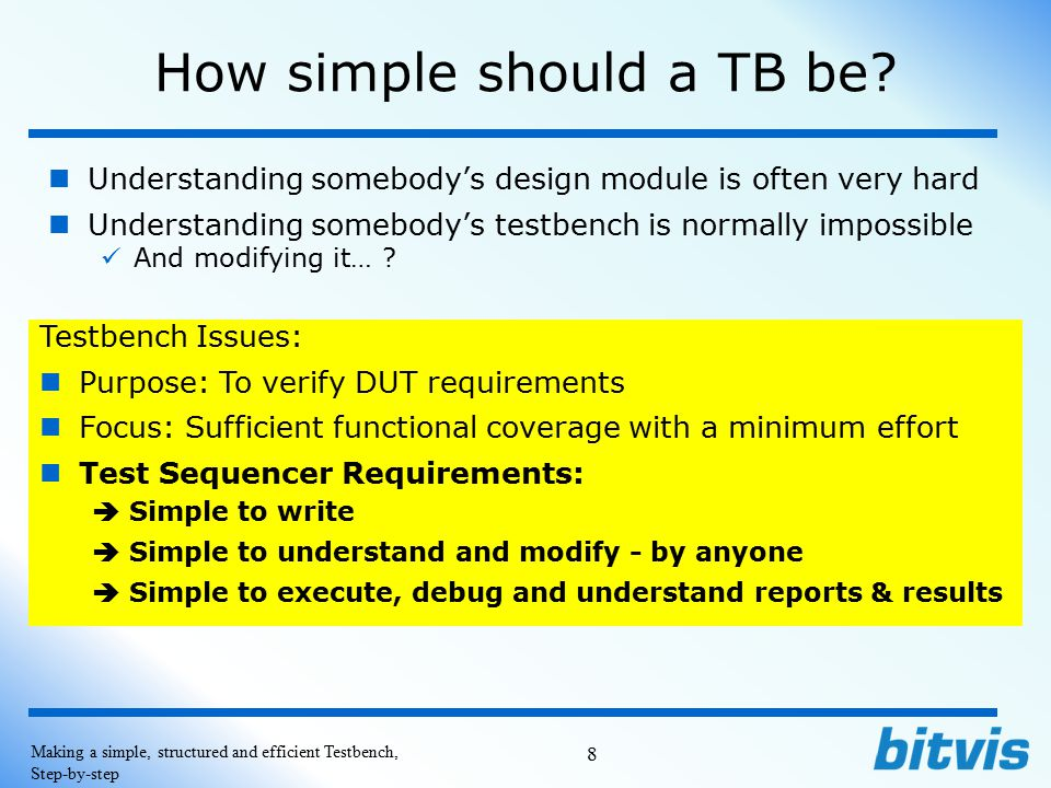 How simple should a TB be