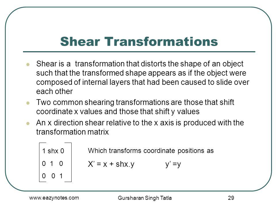 Shear Transformations