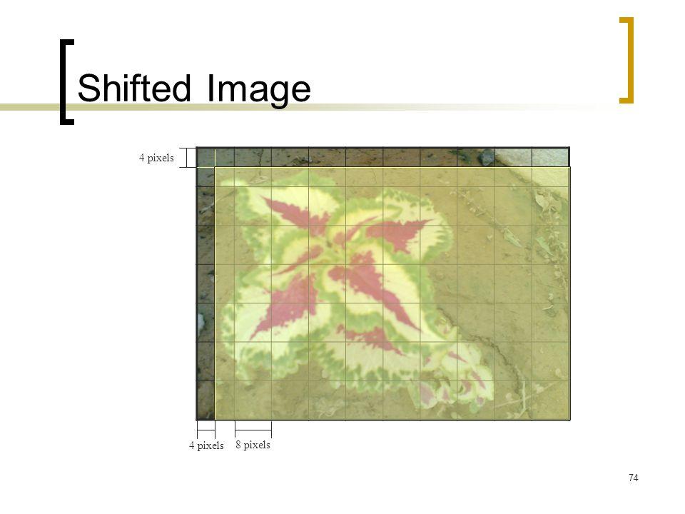 Shifted Image 4 pixels 4 pixels 8 pixels