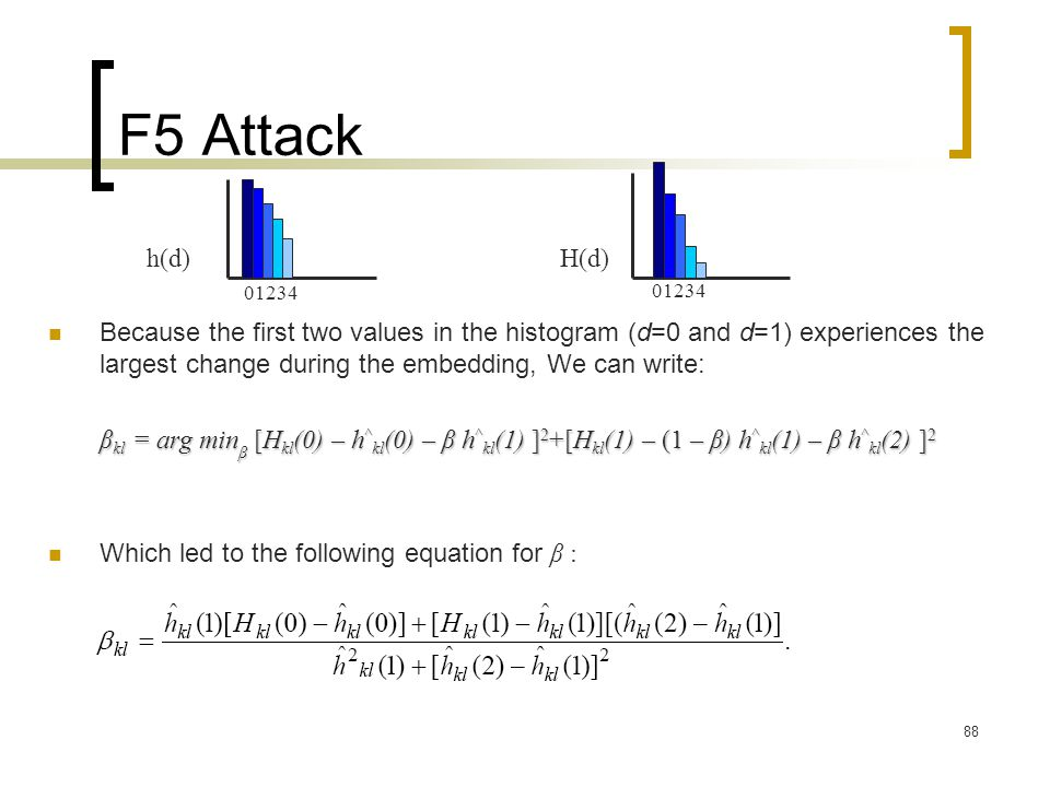 F5 Attack 01234. 01234. h(d) H(d)